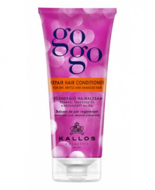 Balsam Regenerant Kallos Gogo pentru par uscat, despicat 200 ml