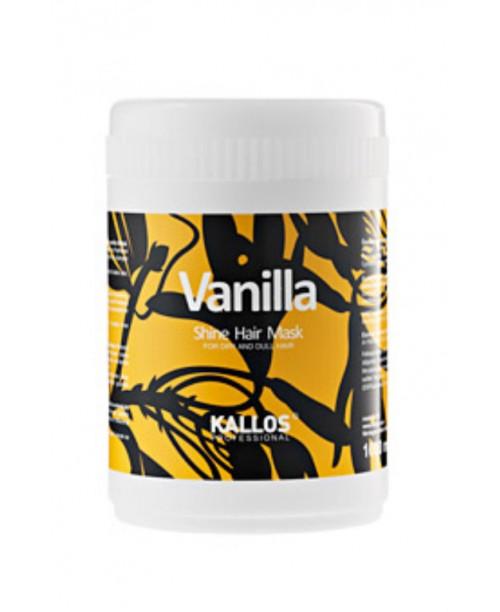 Masca Kallos cu aroma de vanilie pentru par uscat si mat  1000 ml