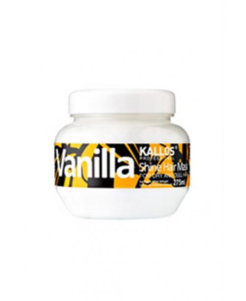 Masca Kallos cu aroma de vanilie pentru par uscat si mat 275 ml