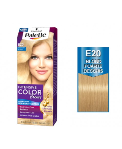 Palette Intensive Color Creme E20 - Blond Foarte Deschis