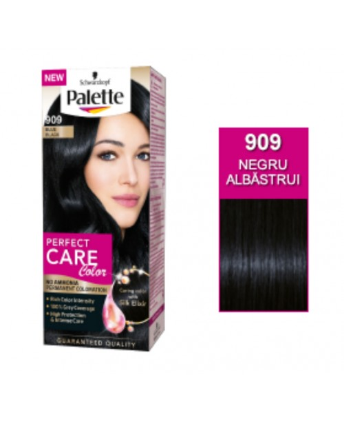 Palette Perfect Care Color 909 - Negru Albastrui