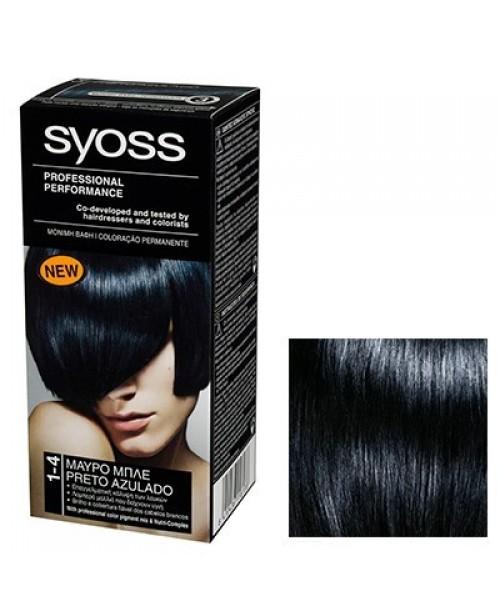 Syoss Color BL 1-4 Negru Albastrui