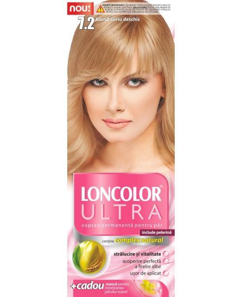 Vopsea Loncolor Ultra - Blond Auriu Deschis 7.2
