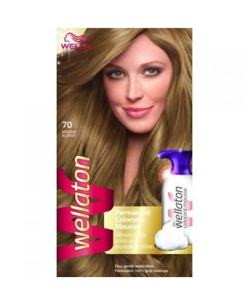 Spuma vopsea Wellaton 7/0 blond mediu