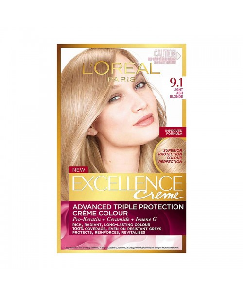 Vopsea de par L'Oreal Excellence Creme 9.1 blond cenusiu natural deschis