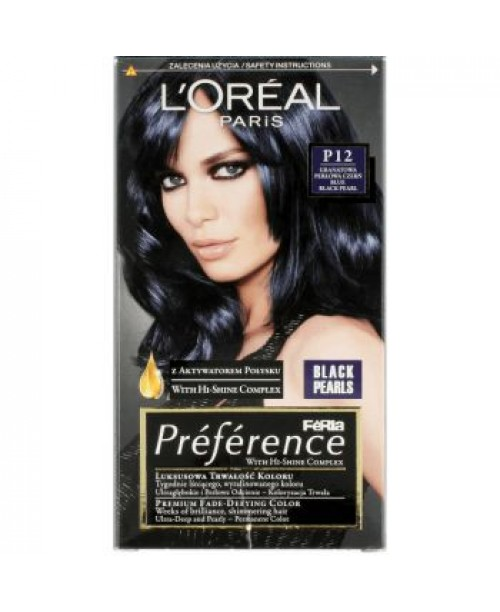 Vopsea L'Oreal Preference P12 negru albastrui perlat