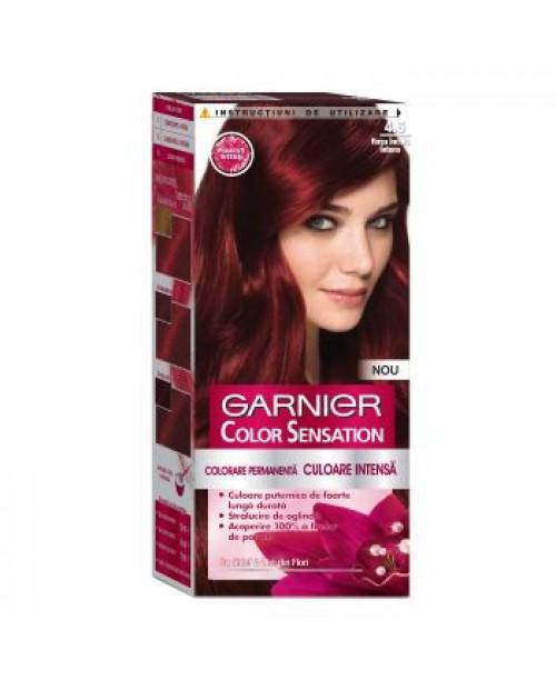 Vopsea Garnier Color Sensation 4.60 rosu inchis intens