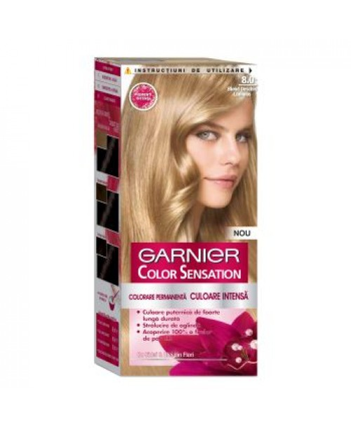 Vopsea Garnier Color Sensation 8.0 blond deschis luminos
