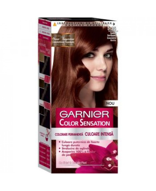 Vopsea Garnier Color Sensation 5.35 saten scortisoara