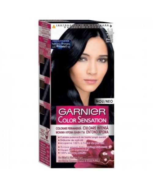 Vopsea Garnier Color Sensation 1.1 negru safir