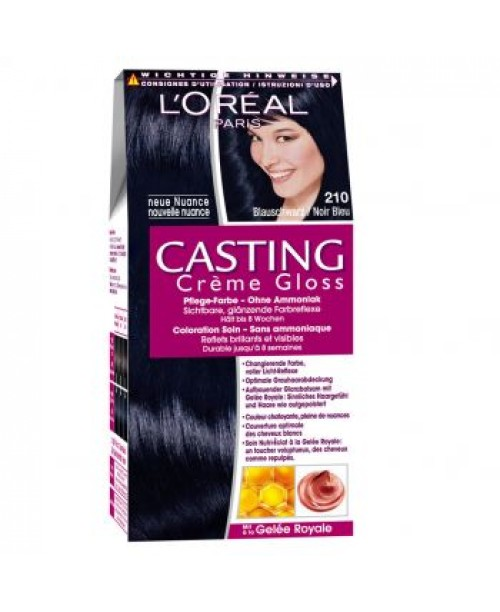 Vopsea L'Oreal Casting Creme Gloss 210 negru albastrui