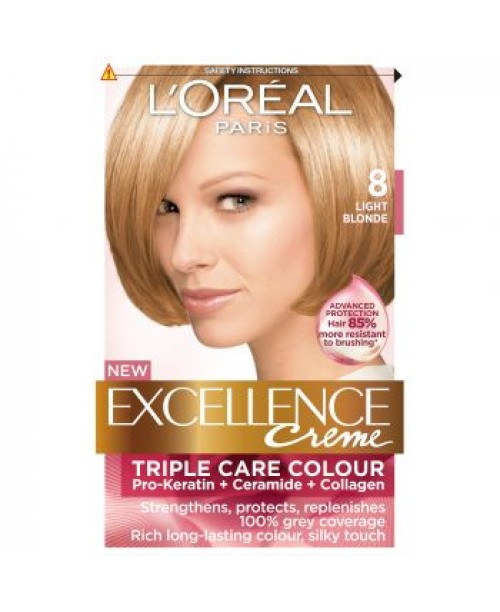 Vopsea de par L'Oreal Excellence Creme 8 blond natural
