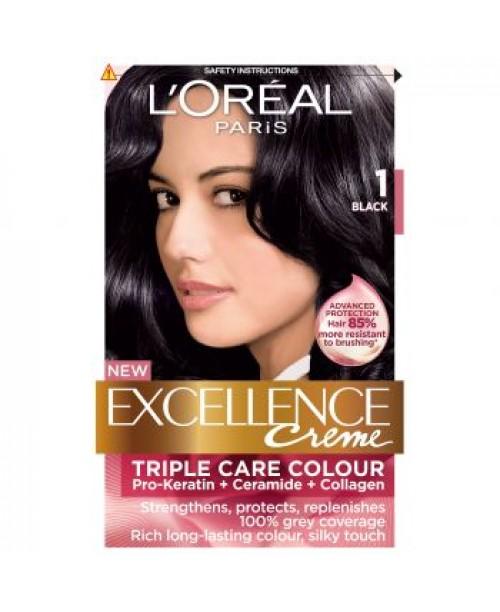 Vopsea L'Oreal Excellence Creme 1 negru