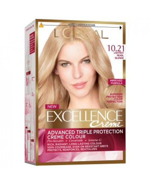 Vopsea L'Oreal Excellence Creme 10.21 blond foarte deschis perlat