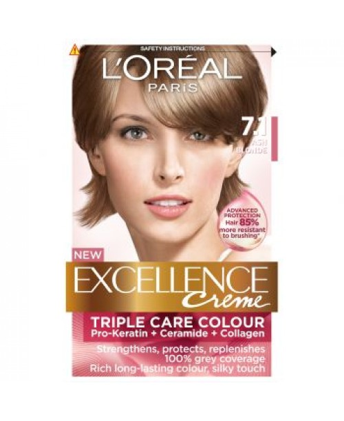 Vopsea L'Oreal Excellence Creme 7.1 blond cenusiu