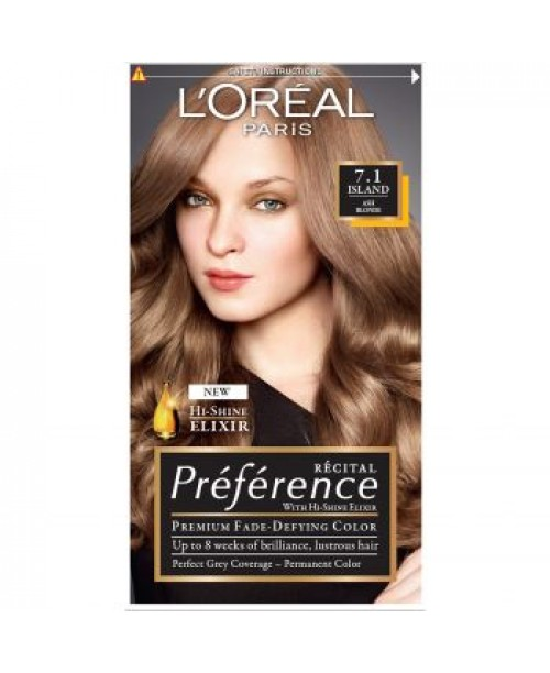 Vopsea L'Oreal Preference 7.1 blond cenusiu