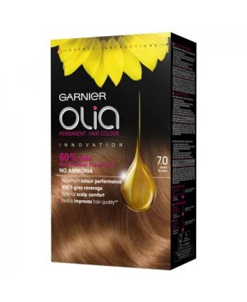 Vopsea de par Garnier Olia 7.0 - Blond inchis