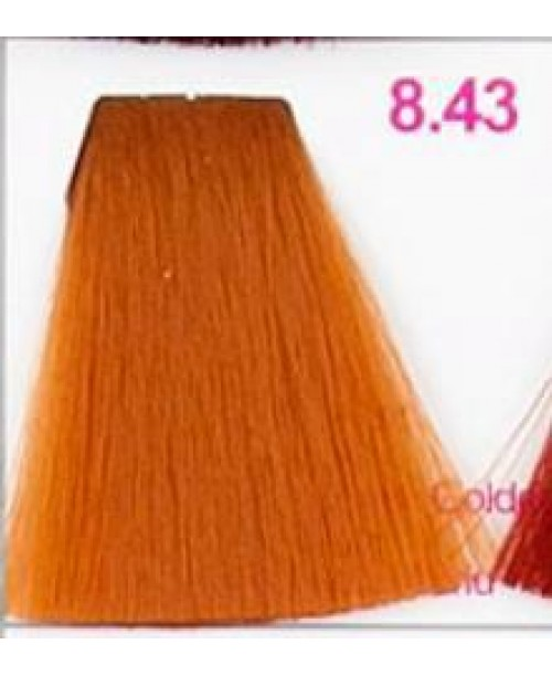 Vopsea KJMN - Blond Deschis cu nuanta de Aramiu Auriu 8.43