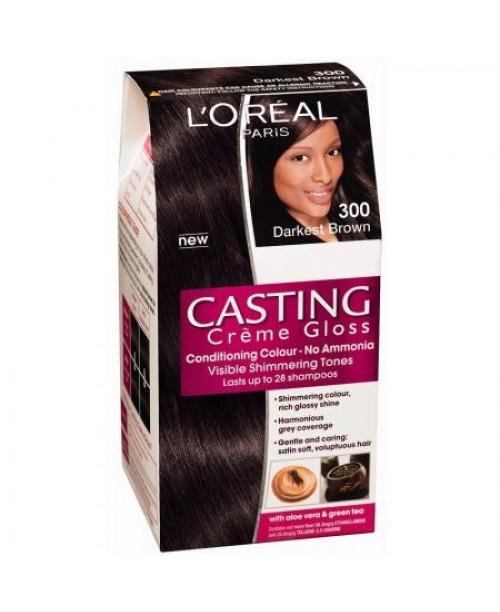 Vopsea L'Oreal Casting Creme Gloss 300 saten inchis