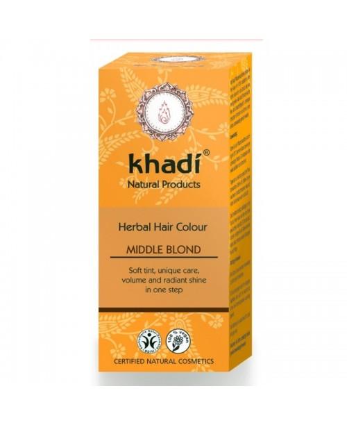 Vopsea naturala Khadi blond mediu