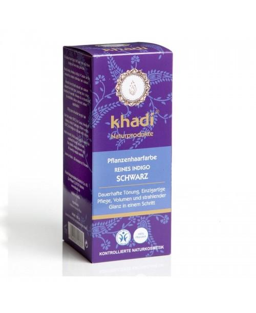 Vopsea naturala Henna Khadi negru indigo
