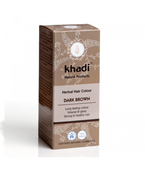 Vopsea naturala Henna Khadi saten inchis