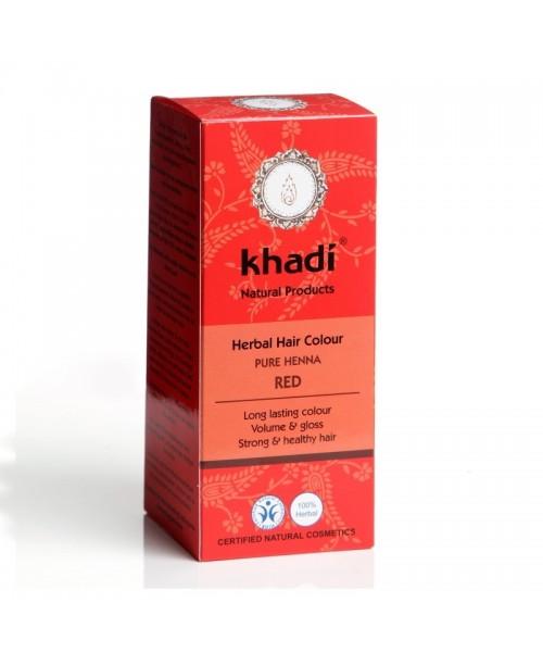 Vopsea naturala Henna Khadi rosu