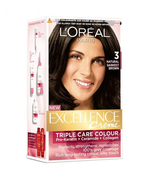 Vopsea L'Oreal Excellence Creme 3 saten inchis