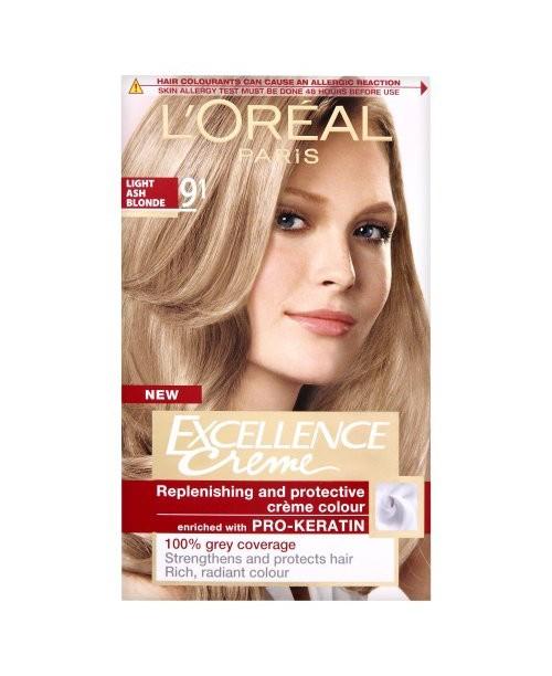 Vopsea L'Oreal Excellence Creme 9.1 blond cenusiu foarte deschis
