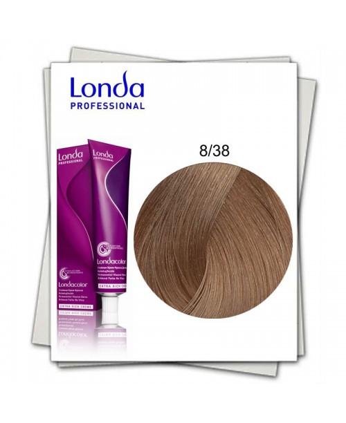 Vopsea Londa Professional 8/38 blond deschis auriu perlat 60ml