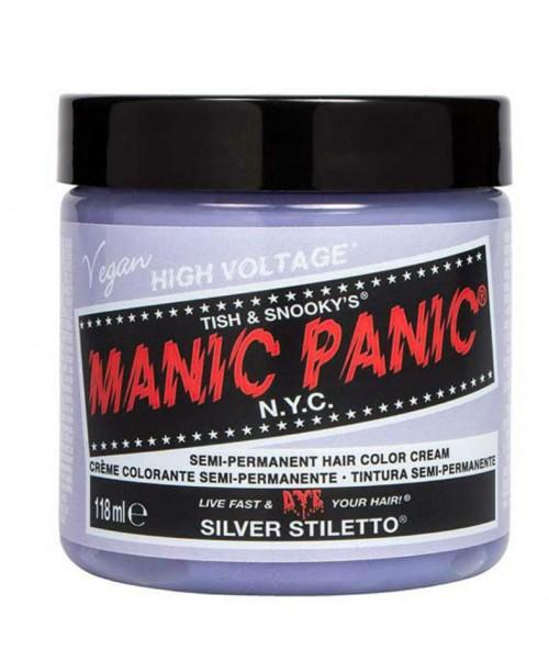 Vopsea de par argintie Manic Panic - Silver Stiletto