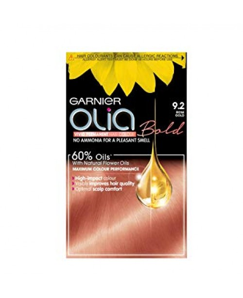 Vopsea de par Garnier Olia 9.2 - Blond auriu roz