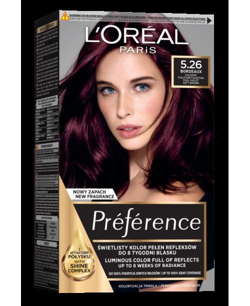 Vopsea de par L'Oreal Preference 5.26 Violet Delicat