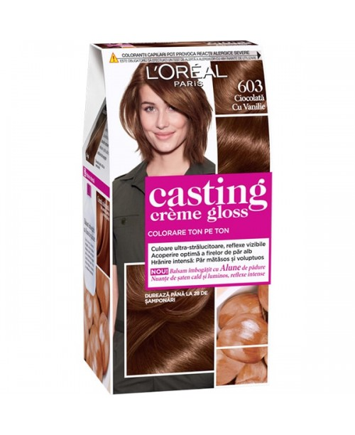 Vopsea L'Oreal Casting Creme Gloss 603 saten ciocolatiu