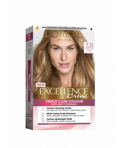 Vopsea de par L'Oreal Excellence Creme 7.31 Blond Caramel