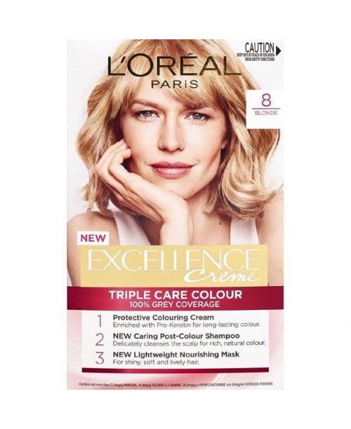 Vopsea de par L'Oreal Excellence Creme 8 Blond Deschis