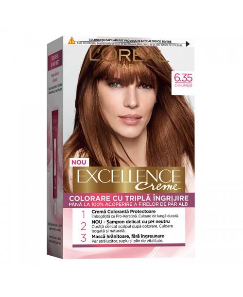 Vopsea de par L'Oreal Excellence Creme 6.35 Blond Chihlimbar