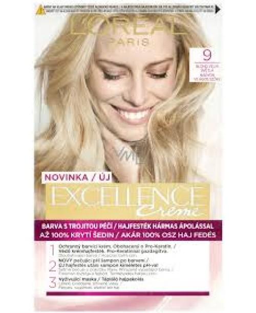 Vopsea de par L'Oreal Excellence Creme 9 Blond foarte deschis