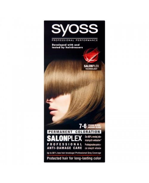 Vopsea de par Syoss Salon Plex 7-6 Blond Mediu