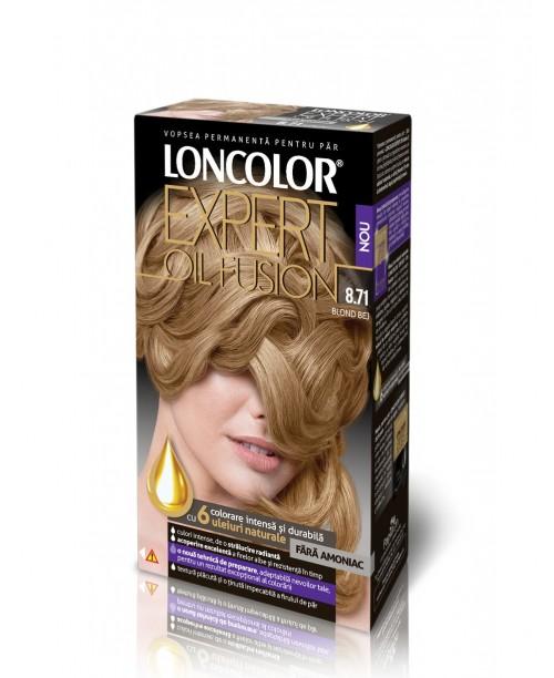 Vopsea de par Loncolor Oil Fusion 8.71 Blond bej